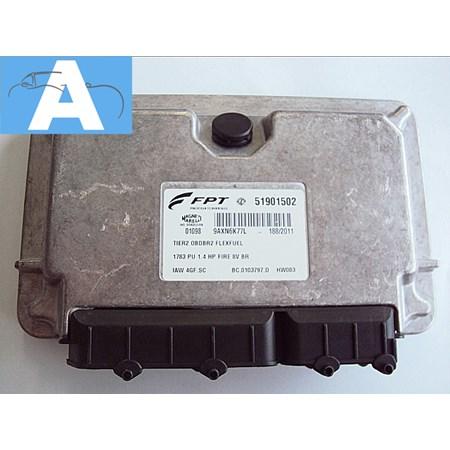 Modulo de Injeção - Fiat Palio / Strada  1.4 Flex - 51901502 - IAW 4GF.SC - Novo