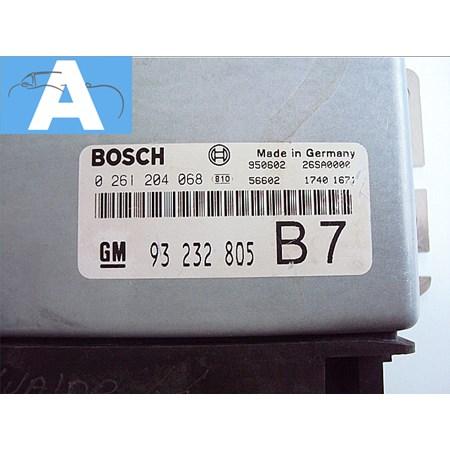 Modulo de Injeção GM Vectra 2.0 8V - 0261204068 - 93232805 - B7 - Original