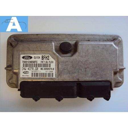 Modulo de Injeção Ford Fiesta 1.6 8v Flex - IAW4CFRGR - 7S6512A650FC