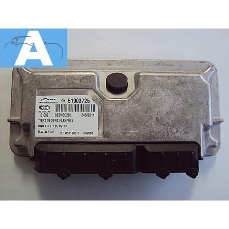 Modulo Injeção Fiat Uno Fire 1.0 8V. Flex - Iaw 4cf.uf - 51903725 - ( NOVO )