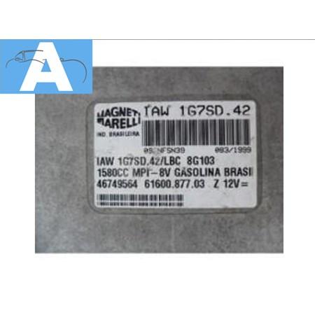 Modulo de Injeção Fiat Palio 1.6 8v. Gas - Iaw1g7sd42 - Original Marelli