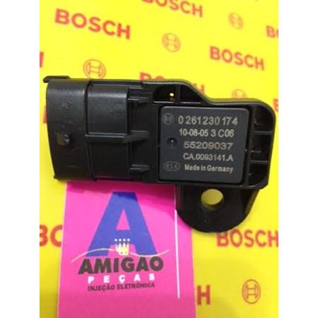 Sensor Pressão MAP Fiat Stilo /Punto 1.4 - 1.8 - 0261230174 - 55209037 - Original