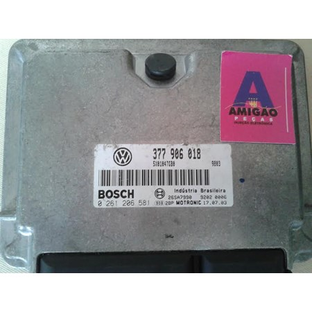 Modulo Injeção Gol 1.0 Turbo - 377906018 - 0261206581 Bosch